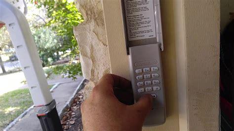 reset  chamberlain garage door opener keypad