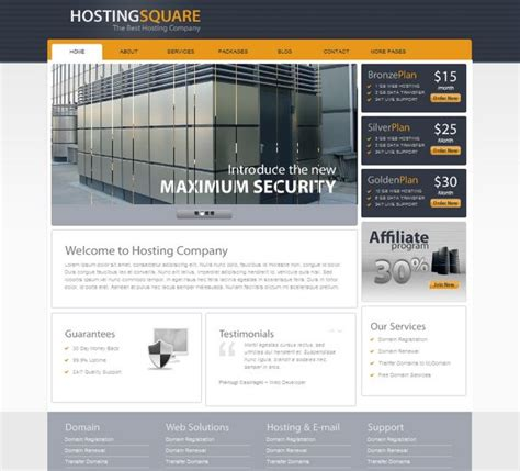30 Best Web Hosting Website Templates {HTML/CSS and
