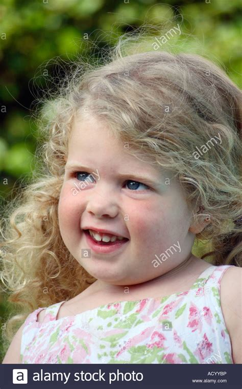 3 yr old typical hair cute 3 year old girl with blonde hair stock photo royalty