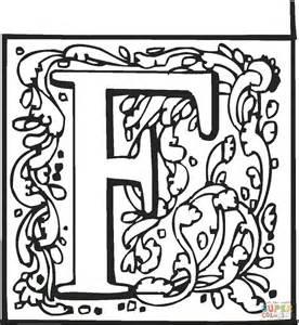 lettere miniate da colorare disegno di lettera f da colorare disegni da colorare e