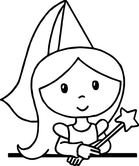 cute cartoon princess standing coloring page wecoloringpage