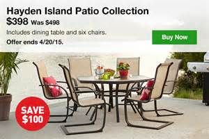 hayden island patio furniture lowes take the savings outside 100 the hayden