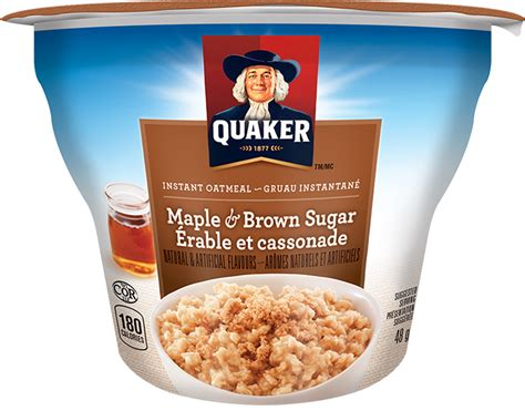 Sereal Instant Oatmeal Cereal quaker 174 maple brown sugar instant oatmeal cup