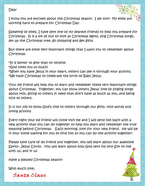 click here to download the letter from santa and fill in