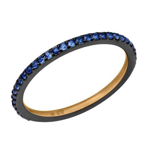 Handmade Band Rings - 0 37ct blue sapphire 925 sterling silver handmade band