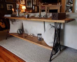new again singer sewing machine sofa table