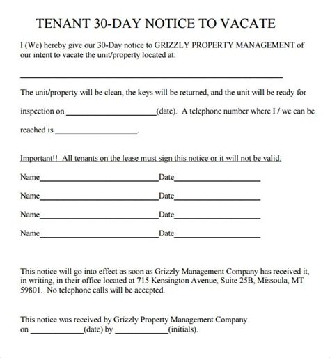 printable eviction notice missouri 30 day eviction notice template doliquid