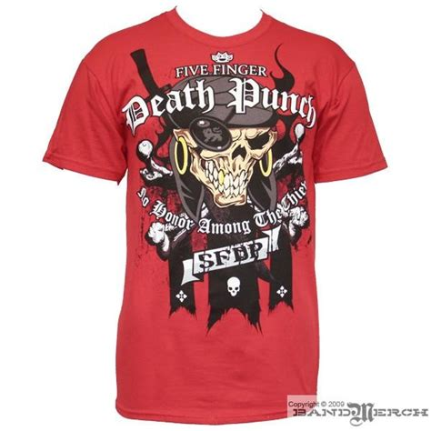 five finger death punch shirts five finger death punch pirate mens t shirt in red
