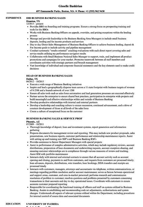 sle of resume for banking banking sales resume sles velvet