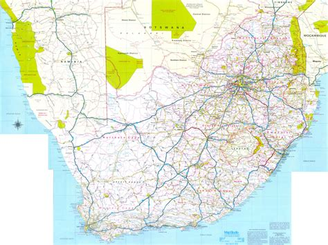 south africa road map south africa mappery