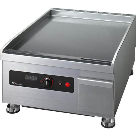 electric induction griddle dipo stainless steel 3500w electric induction griddle single zone 18 quot wide dihg450 a