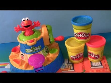 play doh color mixer learn colors with play doh elmo color mixer playset and