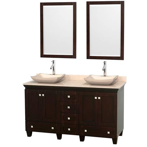 wyndham collection wcv800024sescxsxxm24 acclaim 24 wyndham collection wcv800060desivgs2m24 acclaim 60 inch bathroom vanity in espresso