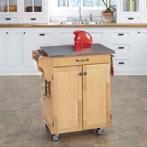 home styles create a cart natural kitchen cart with quartz home styles create a cart natural kitchen cart with black