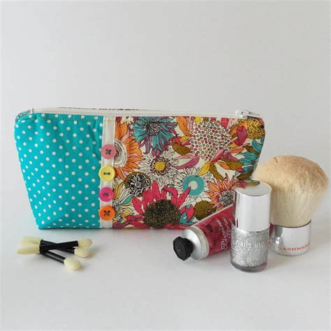 Handmade Makeup Bag - bright floral makeup bag by cherish handmade