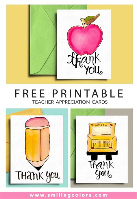 printable teachers day card free printable teacher appreciation cards smiling colors