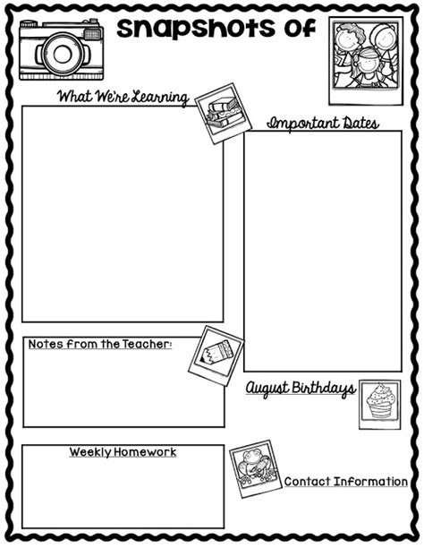 student newsletter templates free the teaching oasis monthly calendars and newsletter