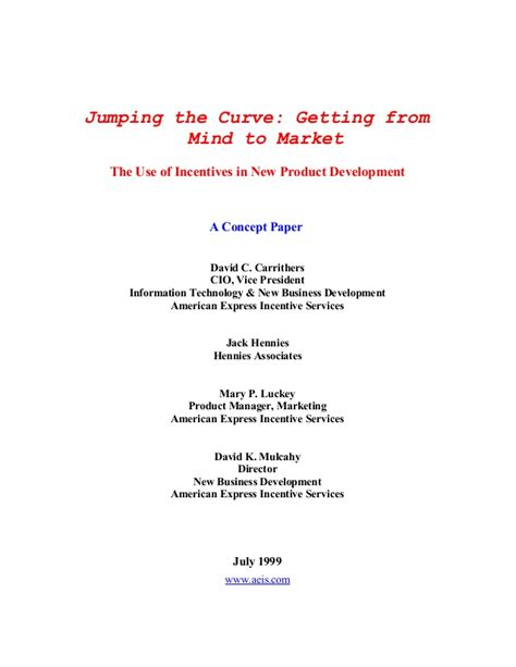 new product development research paper concept paper the use of incentives in new product