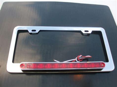 brake light license plate frame license plate frame red 10 led bar third brake light for