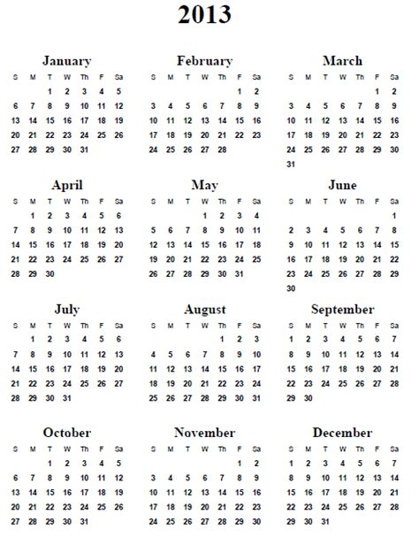 2013 yearly calendar template image gallery 2013 yearly calendar
