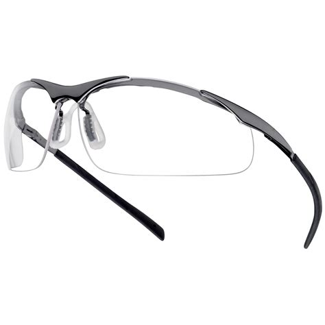 a bolle bolle 40049 contour metal safety glasses silver metal