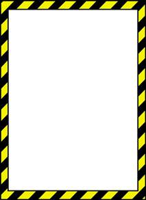hazard border clip art clipartfest
