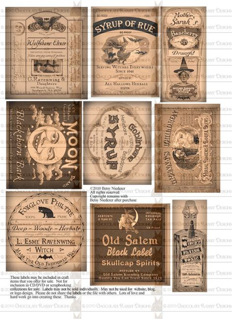 printable labels etsy potion bottle halloween witch labels digital by