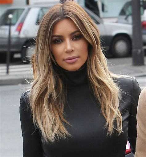 is ombre in style kim kardashian balayage ombr 233 hair style candids in paris