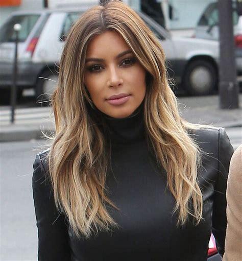 Kim K Balayage | kim kardashian balayage ombr 233 hair style candids in paris
