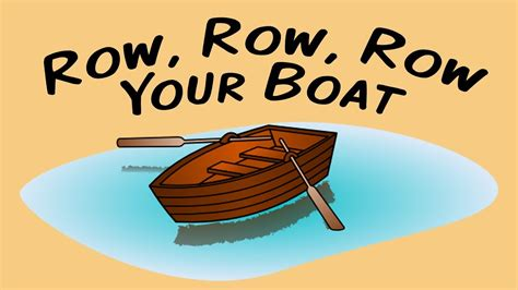 row row your boat carl row row row your boat song for children youtube