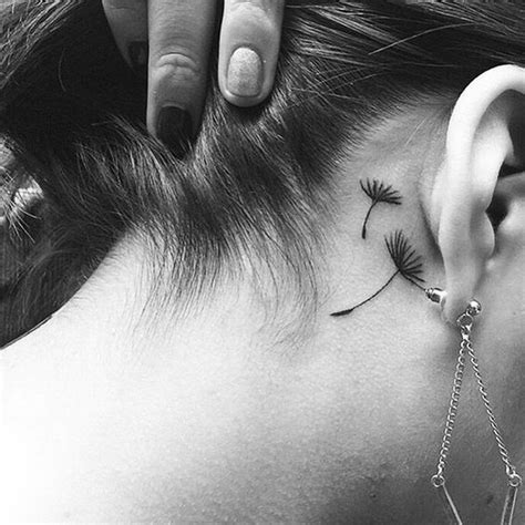 small tattoo behind ear images 50 most beautiful behind the ear tattoos that every girl