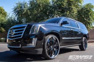 Cadillac Escalade Tires Cadillac Escalade Custom Wheels Forgiato Otto 28x Et