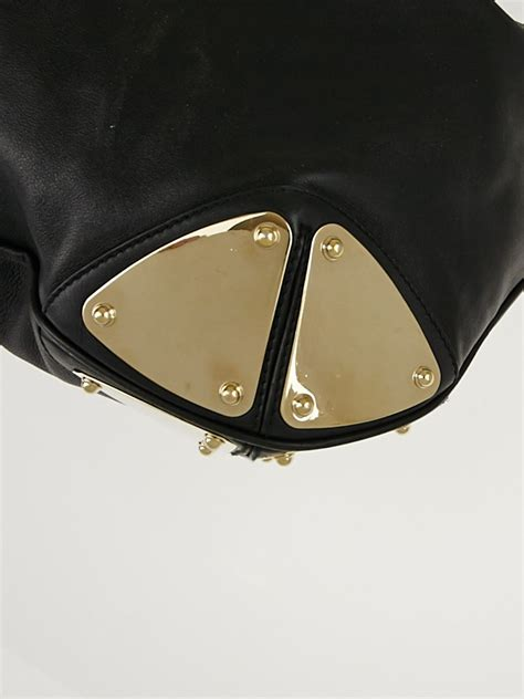 Gucci Gunmetal Indy Large Top Handle Bag by Gucci Black Leather Large Babouska Indy Top Handle Bag