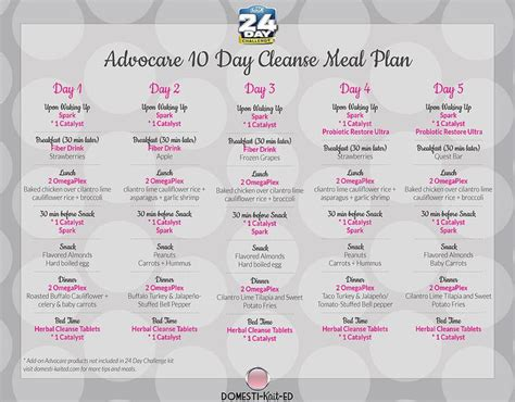 10 Day Diet Detox Shopping List by 412 Best Images About Advocare On Advocare