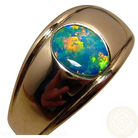 black opal mens ring black opal mens jewelry jewelry flatheadlake3on3