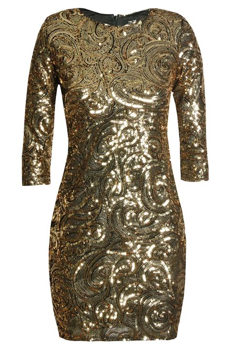 Dress With Sequin tfnc gold sequin dress tfnc dresses