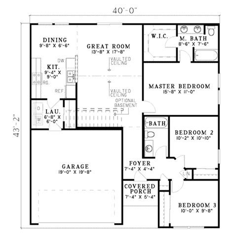 home design for 1250 sq ft traditional style house plan 3 beds 2 baths 1250 sq ft