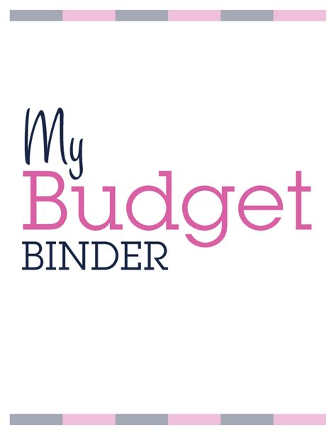 budget cover page template my secret for saving money budget binder printables