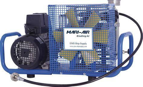 mari air breathing air compressor by seven seas as