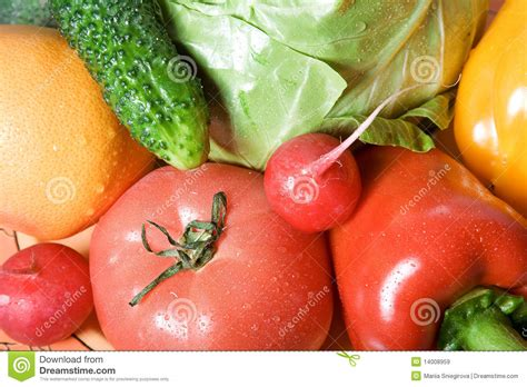 Rich Delicious by Colored Bright Rich Delicious Vegetables Royalty Free