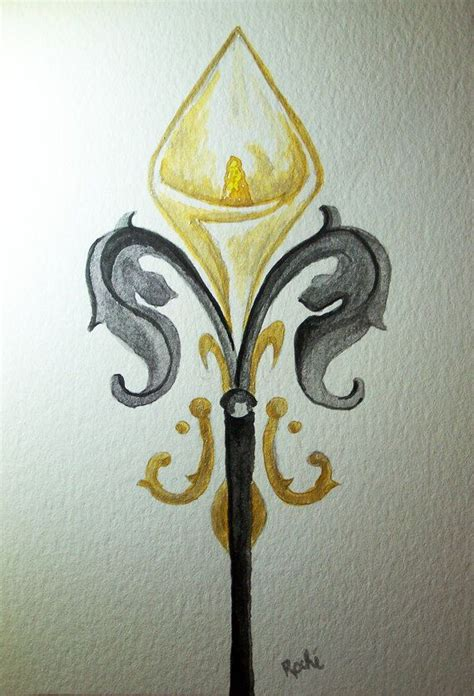 watercolor tattoos new orleans fleur de fleur de lis watercolor