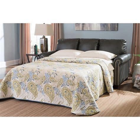 lottie sleeper sofa lottie leather sleeper sofa in slate 3800136