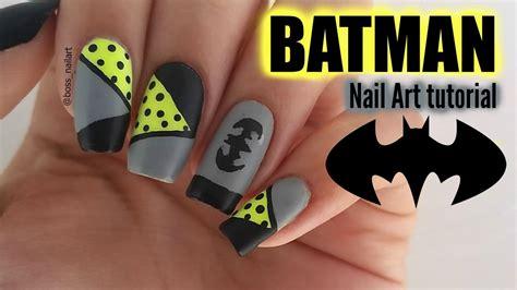 nail art batman tutorial diy batman nails nail art tutorial youtube