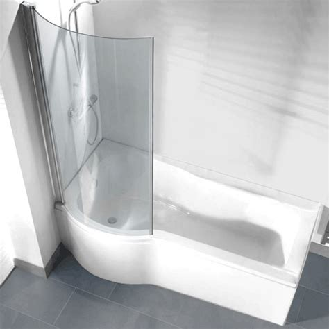 curved shower screen for p shaped bath p shaped shower bath pack with curved shower screen left