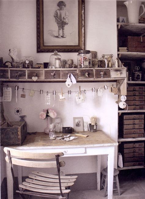 shabby chic working space photo from the book lev