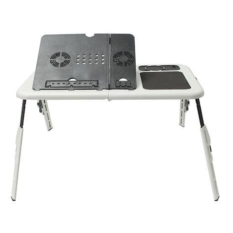 Laptop Desk With Cooling Fan Folding Laptop Stand Desk Holder Laptop Desk Table With Powerful 2 Usb Cooling Fans Mouse Pad