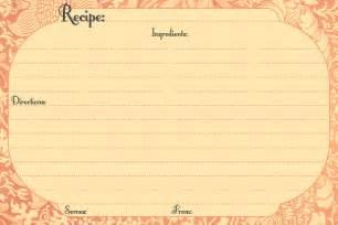 recipe template free 13 recipe card templates excel pdf formats