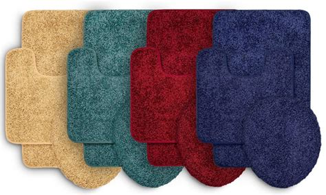 Bathroom Rugs Clearance Clearance Shaggy Bathroom Rug Set 3 Groupon