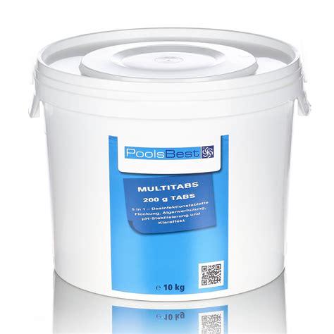 chlor shop 10 kg poolsbest 174 chlor multitabs 5 in 1 200 g tabs