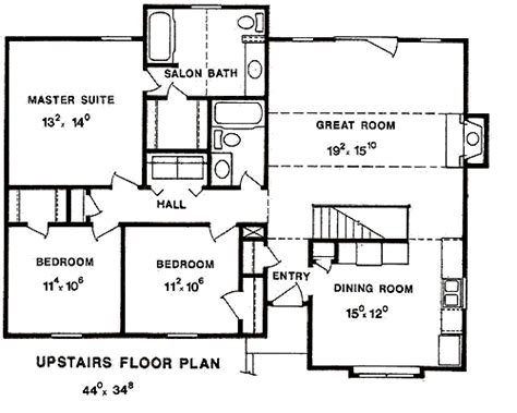1300 sq ft floor plans traditional style house plan 3 beds 2 00 baths 1300 sq